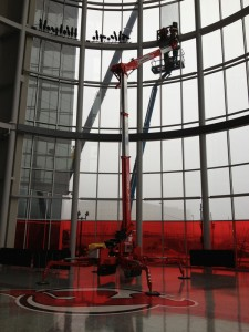 Teupen USA Lift Application at the Prudential Center